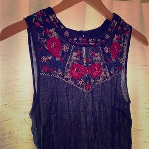 Beautifully embroidered lightweight sleeveless top